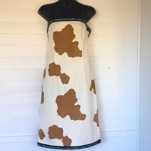NWOT Cow Print With Beading Western Style Dress